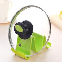 2pcs Dropshipping Wave Design Pot Lid Stand Cooking Spoon Holder Support Shelf Kitchen Utensils-Random Color