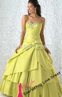 Free shipping!2014 Empire Ball Gown Floor-length Sweetheart Sage Taffeta Dress Vestidos Quinceanera