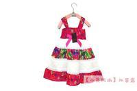 catimini trade of the original single authentic children's clothing girls cotton vest  dress Dress