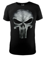 New cotton Skull t-shirt the punisher slim black fitness men boy t shirt