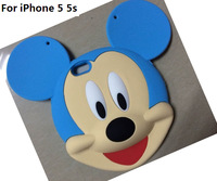 New Cute 3D Bear Silicone handbag Back Cover Case For iphone 5s 5 Free shipping