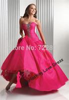 Free shipping! Elegant Floor-Length Sleeveless Sweetheart Taffeta Beading Quinceanera Dresses Vestidos Quinceanera