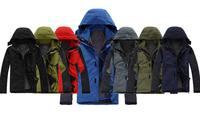 High Quality Brand Outdoor Man Winbreaker Jacket Outdoor Men's Camping 2in1 Jacket
