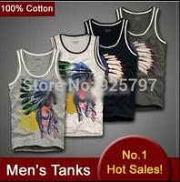 Brand new 2014 summer Cotton Tanks Tops Men Sleeveless Vest Shirts t shirt Sports Casual Sweatshirts Brand Plus