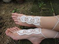 Beach Wedding Barefoot Sandals, Handmade Crochet Barefoot Sandals, Foot Jewelry, Sexy Summer Beachwear