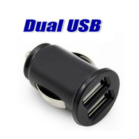 2-Port Dual USB Car Charger for iPhone 4s iPod ipad galaxy all phone 5V-2.1A Free Shipping