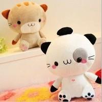 20cm super cute high quality Japan big face kitty cat, plush kawaii cat toy,1pc retail, birthday & graduation gift for children