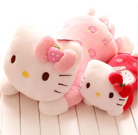 "14"" super cute soft stuffed hello kitty plush toy, high quality kitty cat pillow/cushion,graduation & birthday gift for children(China (Mainland))"