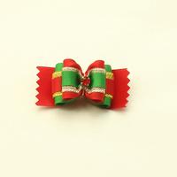 dreambows Handmade Christmas Pet Dog Bow #DB5001 Festival Headdress Flower Boutique Wholesale