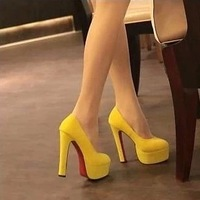 Shoes Woman Platform Thick Heel Spring And Autumn Red Bottom High Heels Women's Pumps Wedding Shoes