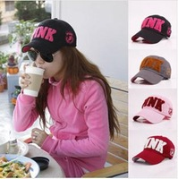 2014 summer fashion letters PINK cap Ms. Leisure baseball cap can be adjusted Outdoor sports sun hat