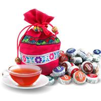 Dropshipping Yunnan Pu'er Mini Tuo Cha 10 taste 50pcs ripe tea raw tea + gift bag (Boutique tea)Special offer 220g