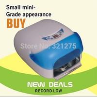 36W Auto Sensor Nail Art Salon Gel UV Lamp Light & Fan Dryer + 4 Bulbs 220V 110V HZ-UV Lamp-705 Blue color