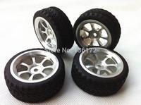 Metal aluminium alloy wheels/ Tires /Tyres for 1/10 RC racing car 4pcs/set  free shipping
