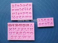 Free shipping !!!3pcs/set Mini New Style Letter & Number Silicone Handmade Fondant/Cake Decorating DIY Mold