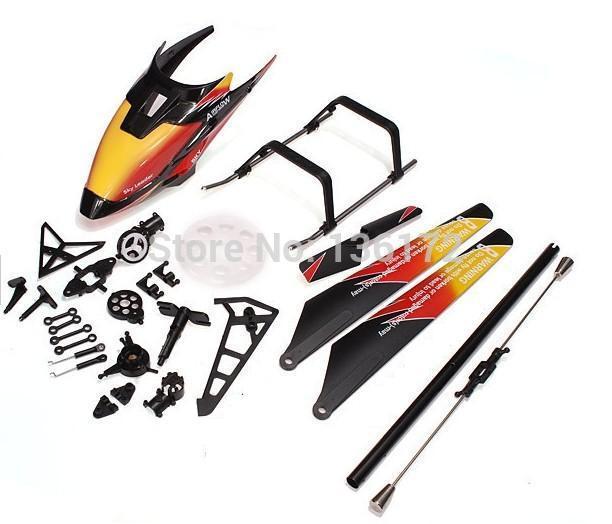 v913 spare part kits canopies+main blades +Main blades for Wltoys V913 helicopter wl v913 parts free shipping(China (Mainland))