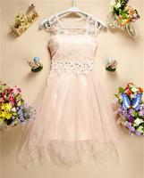 2014 Sweetheart Bridesmaid Dress Lace Floral Beading Princess Dress Sleeveless Apricot White Pink Luxury Bridemaid Dress