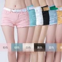 Hot Sale Quality 2014 New Fashion Brand Spring Summer Women Jeans Shorts Pattern Girl Sexy Waist Denim Shorts Maxi Free Shipping