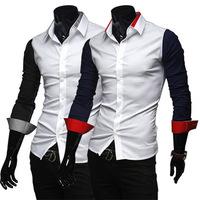 Men's joker long-sleeved shirts men leisure fashion handsome long sleeve shirts M,L,XL,XXL