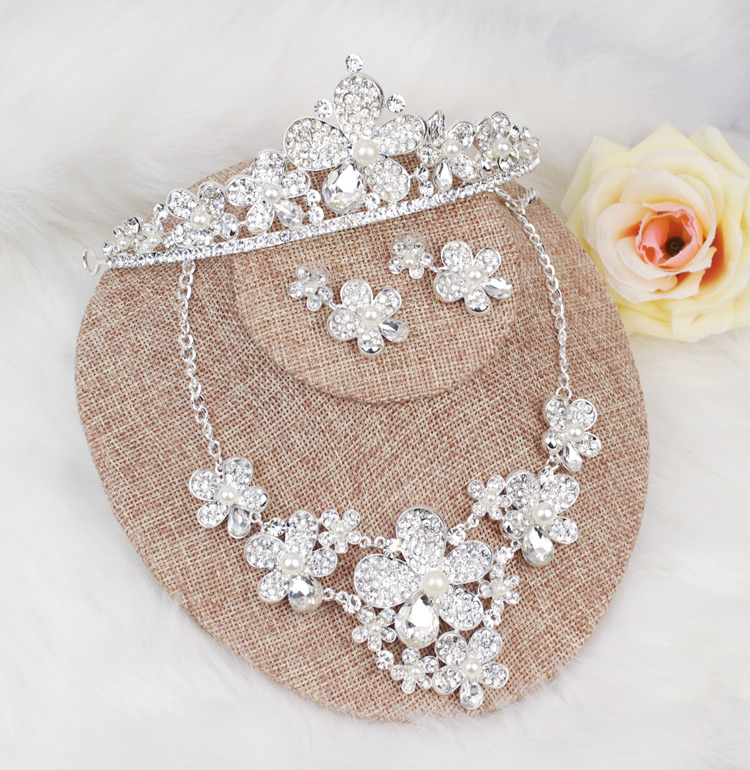 The bride hair accessory piece set marriage accessories piece set wedding accessories piece set formal dress