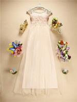 2014 Sweetheart Bridesmaid Dress Lace Floral Beading Princess A-Line Long Dress White Pink Luxury Bridesmaid Dress
