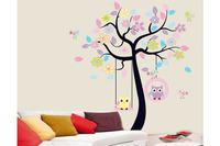 Baby Kids Nursery Vinyl Decor Owl Flower Tree Removable Wall Sticker Decal