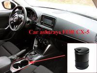 Black Car Cigarette Holder LED Ashtray Auto Portable Car Cigarette Ashtray For MAZDA CX-5 CX5