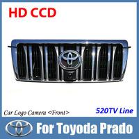 "Night vision Color Vehicle logo Front view camera For Toyoda Prado HD CCD 1/3"" auto/car front view camera car parking camera"