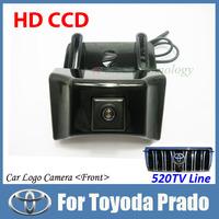 "HD CCD 1/3"" auto/car front view camera Night vision Color Vehicle logo Front view camera For Toyoda Prado car parking camera"