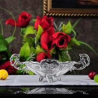Fashion silver plated ktv binaural metal dried fruit plate candy tray dish 2pcs/lot