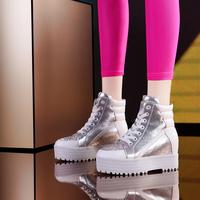 Moolecole casual rhinestone elevator shoes casual shoes gladiator platform shoes skateboarding shoes