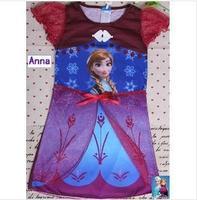 Retail Frozen Anna Elsa Princess Nightwear Kids Girls Children Pajamas Dress Cosplay Sleepwear Robe Clothing 3-8Ages Nightgown