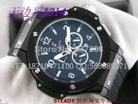 New 2014 Cool Mens Big Size Male Clock Top Luxury Brand Men Rubber Strap Sapphire Waterproof Quartz Sports Watches HYu009