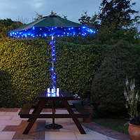 Solar 60-LED Blue Light Outdoor Fairy Lights Christmas Decoration Lamps (8m)