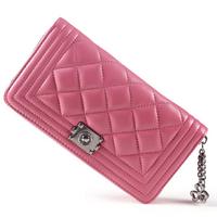 2014 Retro Brand Designer Women Wallets Genuine Leather Wallet Classic Plaid Female Purse HB-119