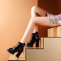 Open toe single shoes ankle-length boots platform 2014 women's high shoes thick heel boots single boots high-heeled