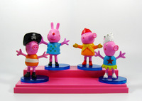 2014 Peppa Pig Action Figures 9CM PVC 4pcs/set Cute Cartoon Piggy Collections  Best Gifts Free Shipping