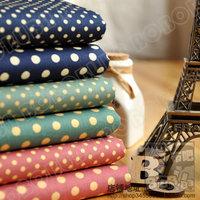 50*45cm 6pcs/lot vintage polka dot  prints cotton cloth cotton fabric patchwork sewing costumiers poplin handmade diy