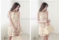 European 2014 summer big yards dress new South Korea act as purchasing agency han edition floral chiffon render brand dress