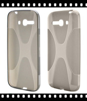 New Flexible X Line Style Slim Fit TPU Back Skin Soft Protective Cover Cell Phone Case For Alcatel Pop C9 OT-7047 Grey,Free Ship