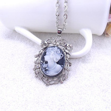 Free Shipping Wholesale Lovely Vintage Cameo Necklace,Beautiful Queen Victoria Pendent Necklace