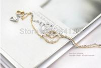 SB034 Mix wholesale.order $10 Free Shipping fashion Simple Design cute crystal Peace Logo Fashion Bracelet Elegant for women