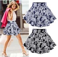 2014 New Fashion Summer Slim Organza Lace Print Elastic Waist Bust Skirts
