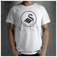 CITY LOGO SWANSEA CITY  t-shirt top Lycra cotton Fashion Brand t shirt  men new High Quality