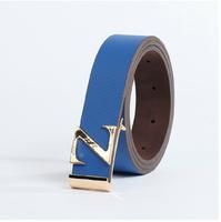 Men's belt fashion casual pants belt brief elegant letter buckle trend white strap male