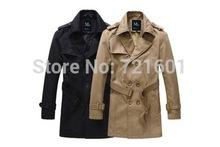 500pcs/lot man spring 2014 new Korean fashion trench coat men spring long coat suit men Overcoat Jacket Outerwear masculino(China (Mainland))