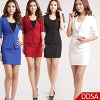New  Fashion OL Style Slim Fit Non Iron Women Suit Skirt Set Ladies Formal Suit Set