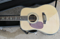 2014 new arrival + factory + solid wood MT D acoustic electric guitar 12 string ebony fingerboard left hand guitar free hardcase