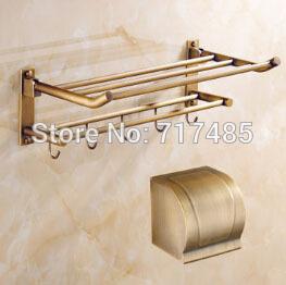 Antique Copper Bath Towel Shelf Folded Towel Rack Movable Bath Towel Holder (Tower Holder + Paper Holder)(China (Mainland))