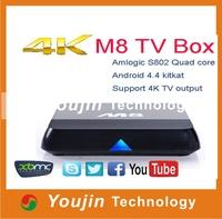 Google Box Android 4.4 TV Box M8 quad core tv box android 4.4